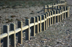 Wooden fence. In Andalusia protected area, near to the sea Royalty Free Stock Image