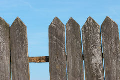 Wooden fence. An old broken wooden fence royalty free stock photo