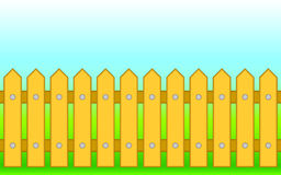 Wooden fence. Royalty Free Stock Photo