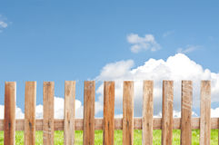 Wooden fence. With sky background vector illustration