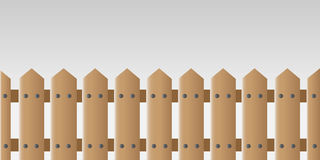 Wooden fence. Beautiful wooden fence in front of a light grey background royalty free illustration
