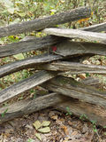 Wooden fence. Interlaced wooden fence stock image