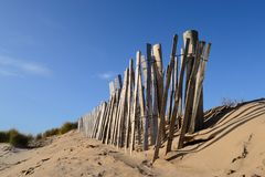 The wooden fence. Royalty Free Stock Images