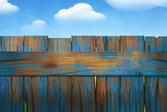 Wooden fence. Digital illustration of a rural wooden fence Royalty Free Stock Photography
