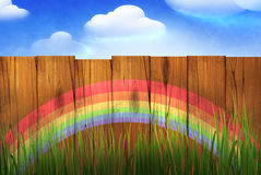 Wooden fence royalty free illustration