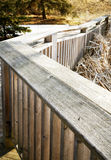 Wooden fence. In the park Royalty Free Stock Photography