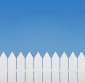 Wooden fence against blue sky Stock Photos
