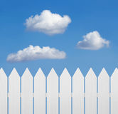 Wooden fence against the sky Stock Photos
