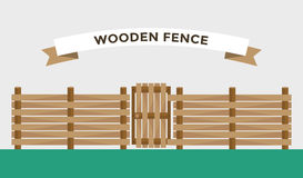 Wooden fence  on background Royalty Free Stock Photography