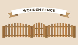 Wooden fence  on background Royalty Free Stock Photo