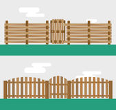 Wooden fence  on background Royalty Free Stock Images