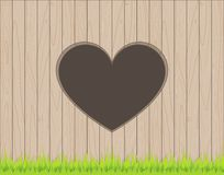 Wooden fence background with heart shape hole. Wooden fence plank background with heart shape hole Royalty Free Illustration