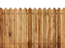 Wooden Fence Background. Isolated over white background Royalty Free Stock Photography