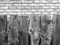 A wooden fence for the background royalty free stock photo