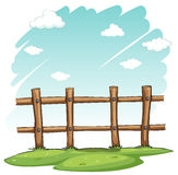 A wooden fence. At the backyard on a white background Stock Images