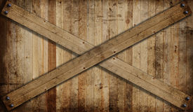 Wooden fence barrier Stock Photo