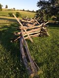 Wooden fence at the battlefield Stock Image