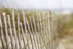 Wooden fence at beach. Royalty Free Stock Photos