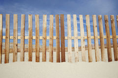 Wooden Fence At Beach Royalty Free Stock Photos