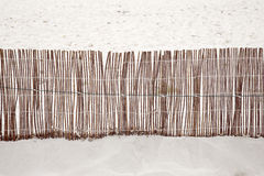 Wooden Fence on Beach on Formentera, Balearic Islands Royalty Free Stock Photography