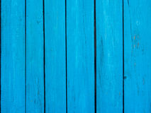 Wooden fence blue background Stock Photos