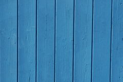 Wooden fence blue Royalty Free Stock Photography