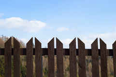 Wooden fence Royalty Free Stock Image