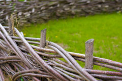 Wooden fence braided Stock Photos