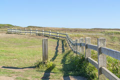 Wooden fence in Brittany Stock Images