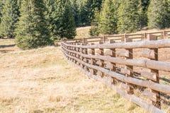 Wooden fence from Bucegi Mountains Stock Photos