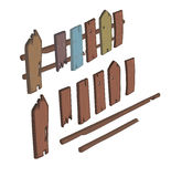Wooden fence cartoon Royalty Free Stock Photos