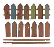 Wooden fence cartoon Stock Photo
