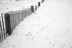 Wooden fence chairs Royalty Free Stock Photos