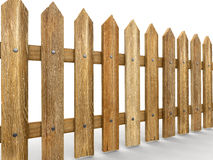 Wooden fence (clipping path included) Stock Photo