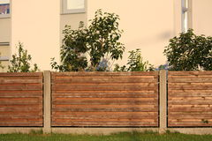 Wooden fence close up Stock Image