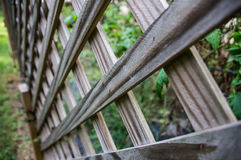 Wooden Fence. Close up shot looking down on a wooden fence Stock Photos