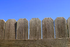 Wooden Fence Closeup Royalty Free Stock Photo