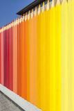 Wooden fence colored Stock Photo
