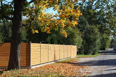 Wooden fence in the coutryside Royalty Free Stock Image