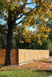 Wooden fence in the coutryside Royalty Free Stock Photography