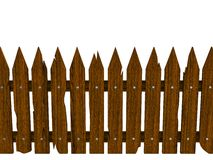 Wooden fence from crashed brown boards Stock Photo