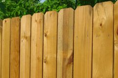 Wooden fence detail stock photography