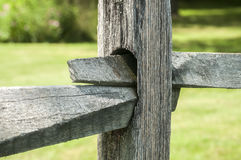 Wooden fence detail Royalty Free Stock Photography