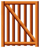 A wooden fence with a diagonal bar Stock Images