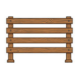 A wooden fence. A different fence single icon in cartoon style vector symbol stock illustration web. Stock Photo