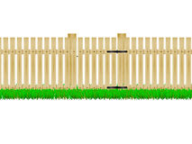 Wooden fence with the door Stock Image