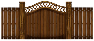 Wooden fence and doorway Stock Image