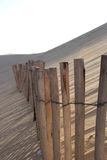 Wooden fence on Dune du Pyla, Gironde Royalty Free Stock Image