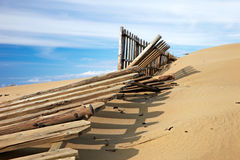 Wooden fence on the dunes Royalty Free Stock Images