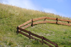 Wooden fence in a farm Royalty Free Stock Photography